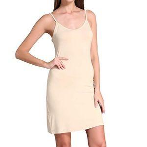 Top Shop nude long camisole sz 8